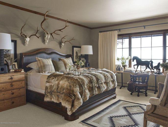 One of nine bedrooms