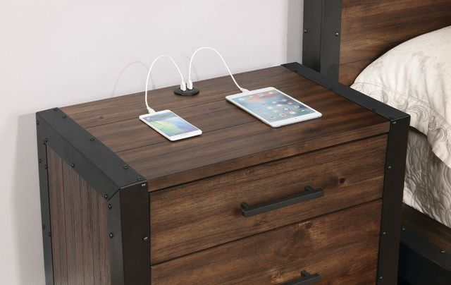 Scott Brothers bedside table with built-in USB port -- available any day now