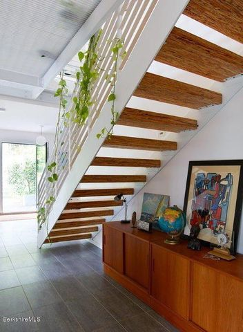 The home's staircase.