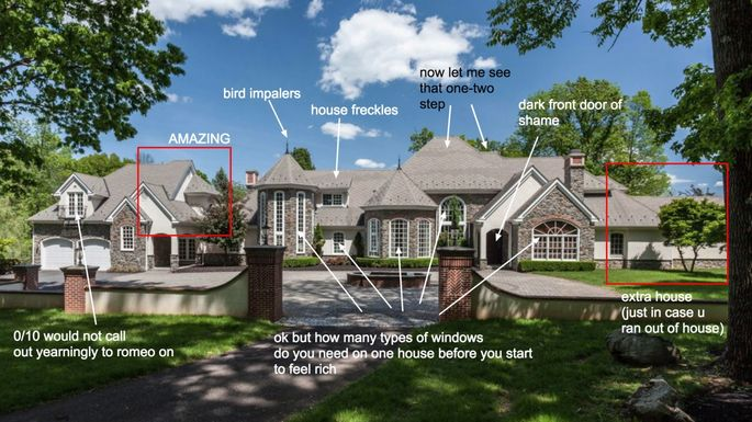 Breakdown of a starter castlefrom McMansion Hell
