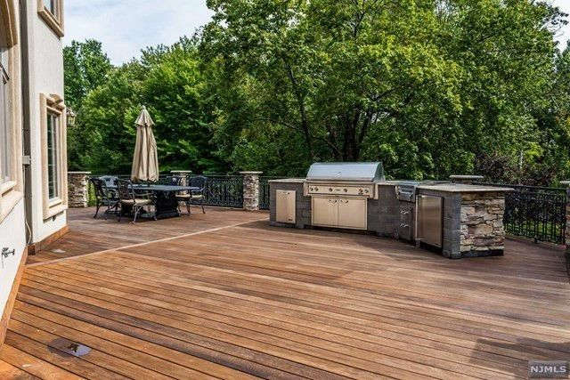 Large deck with barbecue