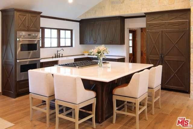 Open kitchen with giant island
