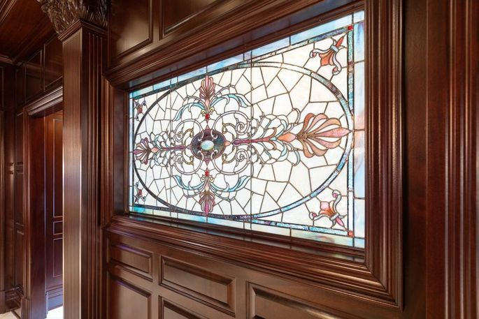 Restored stained-glass window