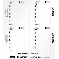 CD Title Strip Cards for Rowe Jukebox, Numbered (4 per