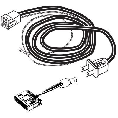 MEI Harness, 2 Wire Line Cord With Plug + Inhibit Plug