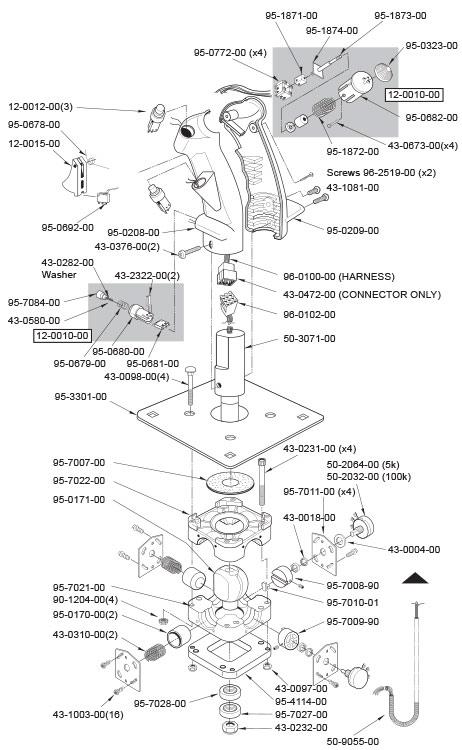 Analog Flight Joystick with 5K potentiometers & B-8 Grip