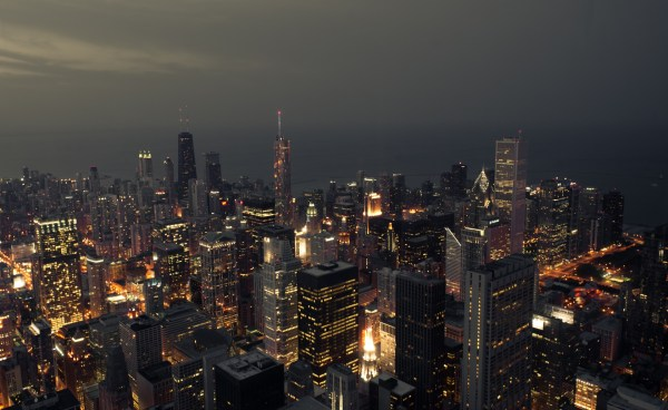 Willis Tower Skydeck Chicago at Night