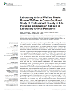 Peer reviewed compassion fatigue paper