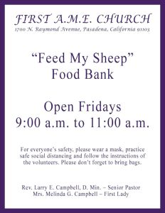 FAME Food Bank flyer