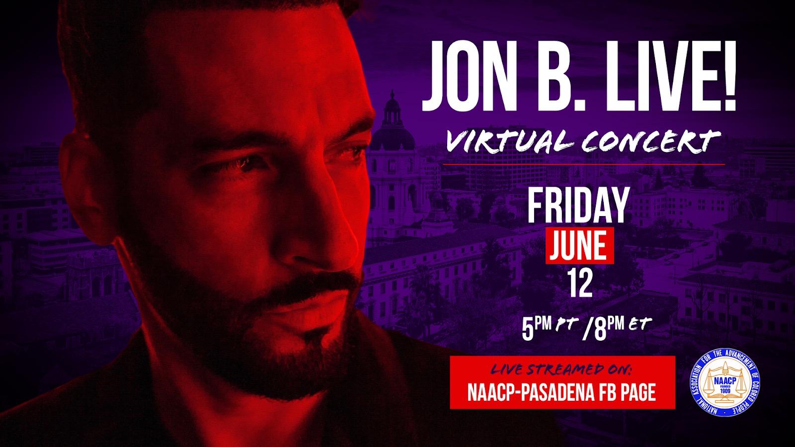 Jon B. Live Concert flyer
