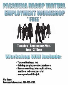 Employment Workshop Flyer
