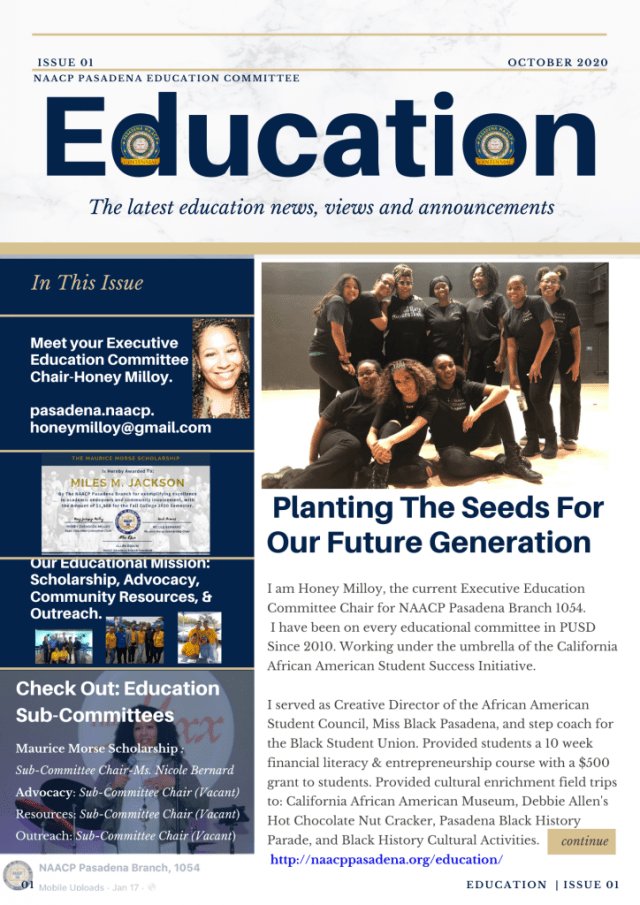 Education Newsletter Issue 1