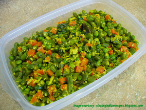 beans and carrot thoran