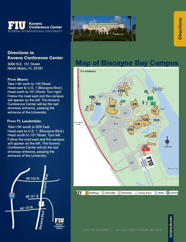 Fiu Map Mmc : Current, Florida, Biscayne, Campus