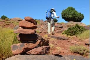 Een steenmannetje wijst de weg