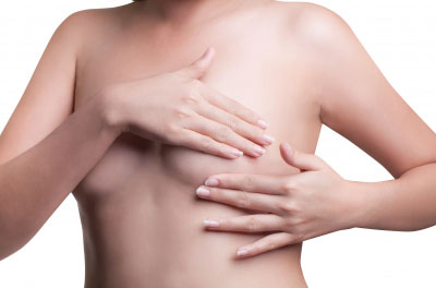 Woman breast examination