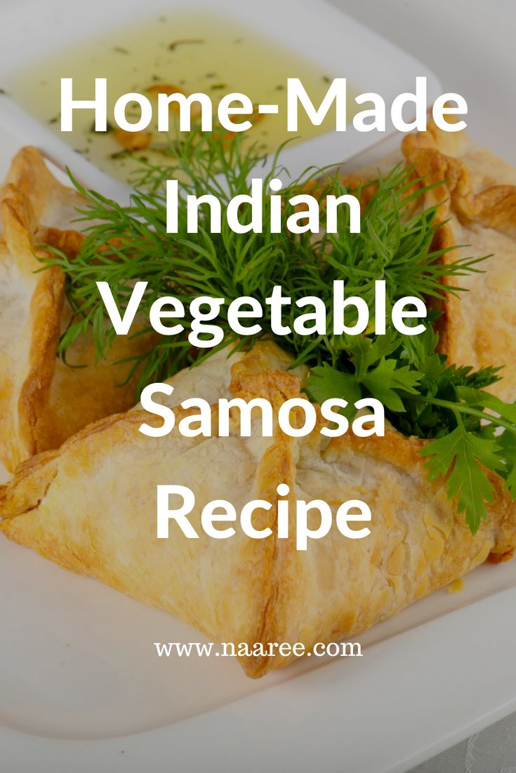 Indians cannot resist hot and crispy 'Samosas' especially at tea-time. This is a delicious Indian snack to offer your guests along with Indian chutneys as an accompaniment. Save this Home-Made Indian Vegetable Samosa recipe and click to read how to make it. #Indianfood #Indiancuisine #snacks #samosa #vegetarian