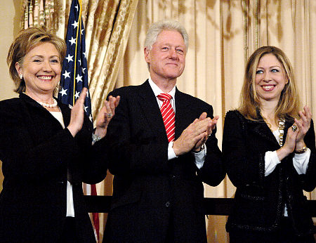 Secretary of State Hillary Clinton held a swearing in ceremony to recreate her swearing in as Secretary of State at the State Department, Monday, February 2, 2009. Former President Clinton, Chelsea Clinton, Vice President Biden and Secretary Clinton's mother, Dorothy Rodham were present for the ceremony. Original Filename: clinton202_007.JPG