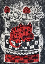 Linogravure sur papier -nabarus