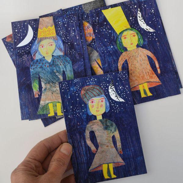 peinture, art, illustration, art moderne, peinture, photo, rétro, œuvres d'art, traditionnel, espace, personne, toile, femme, arts visuels, bleu, dessin, pluie, neige, texture
