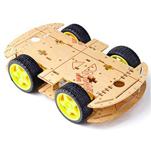 Robot Chassis (4 Wheels), Obstacle Avoiding Robot, Line Following Robot