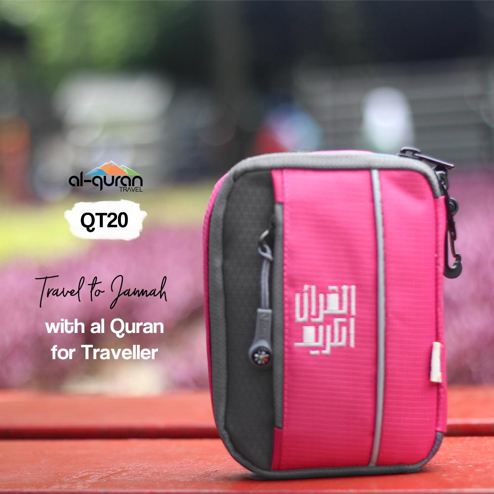 Al Quran Travel A6 Pink Grey