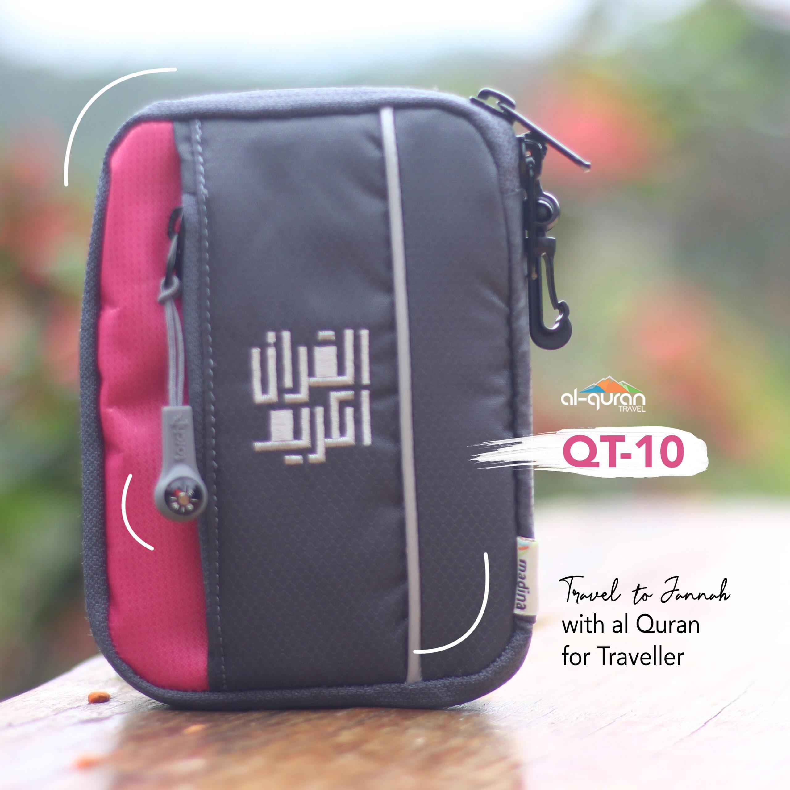 Al Quran Travel A6 Grey Pink