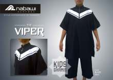 nabawi clothes gamis anak the viper black pendek