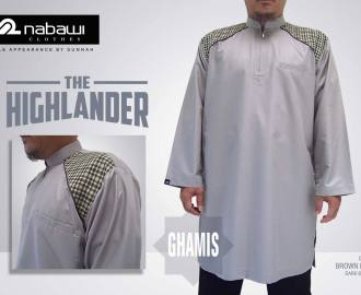 nabawi clothes gamis the highlander long brown milk