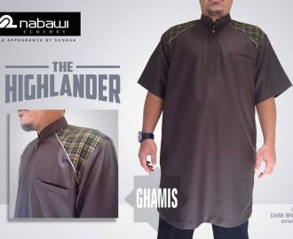 nabawi clothes gamis the highlander short dark brown