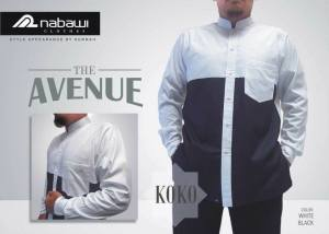 NabawiClothes baju koko the avenue long white black