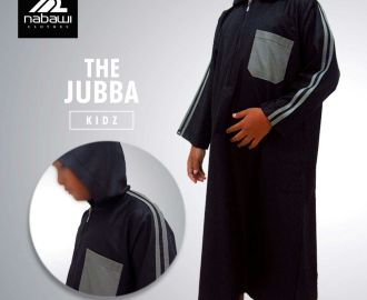 NabawiClothes - baju jubah anak black hooded