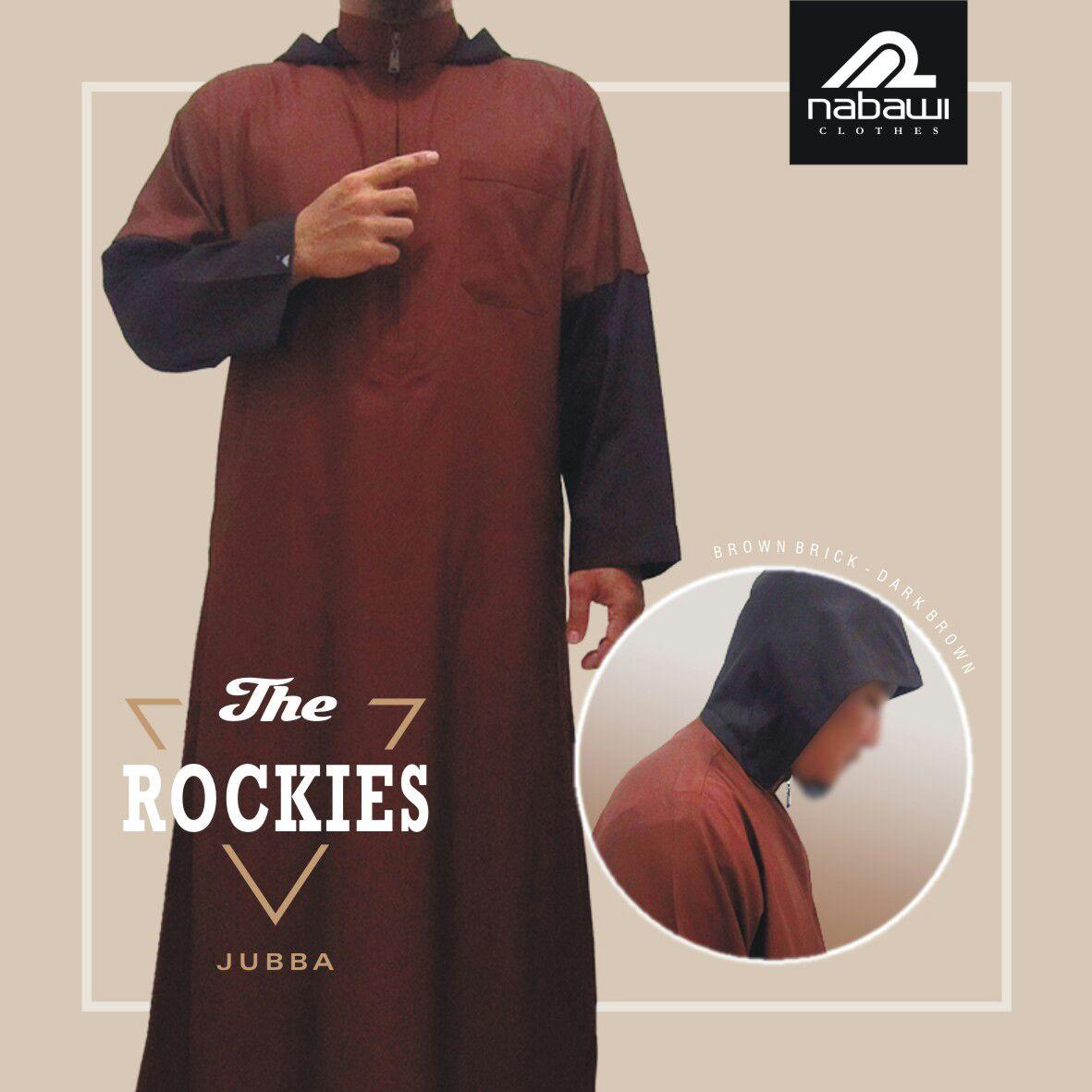 NabawiClothes.com - Jubah Nabawi Clothes The Rockies Kombinasi Sambung coklat