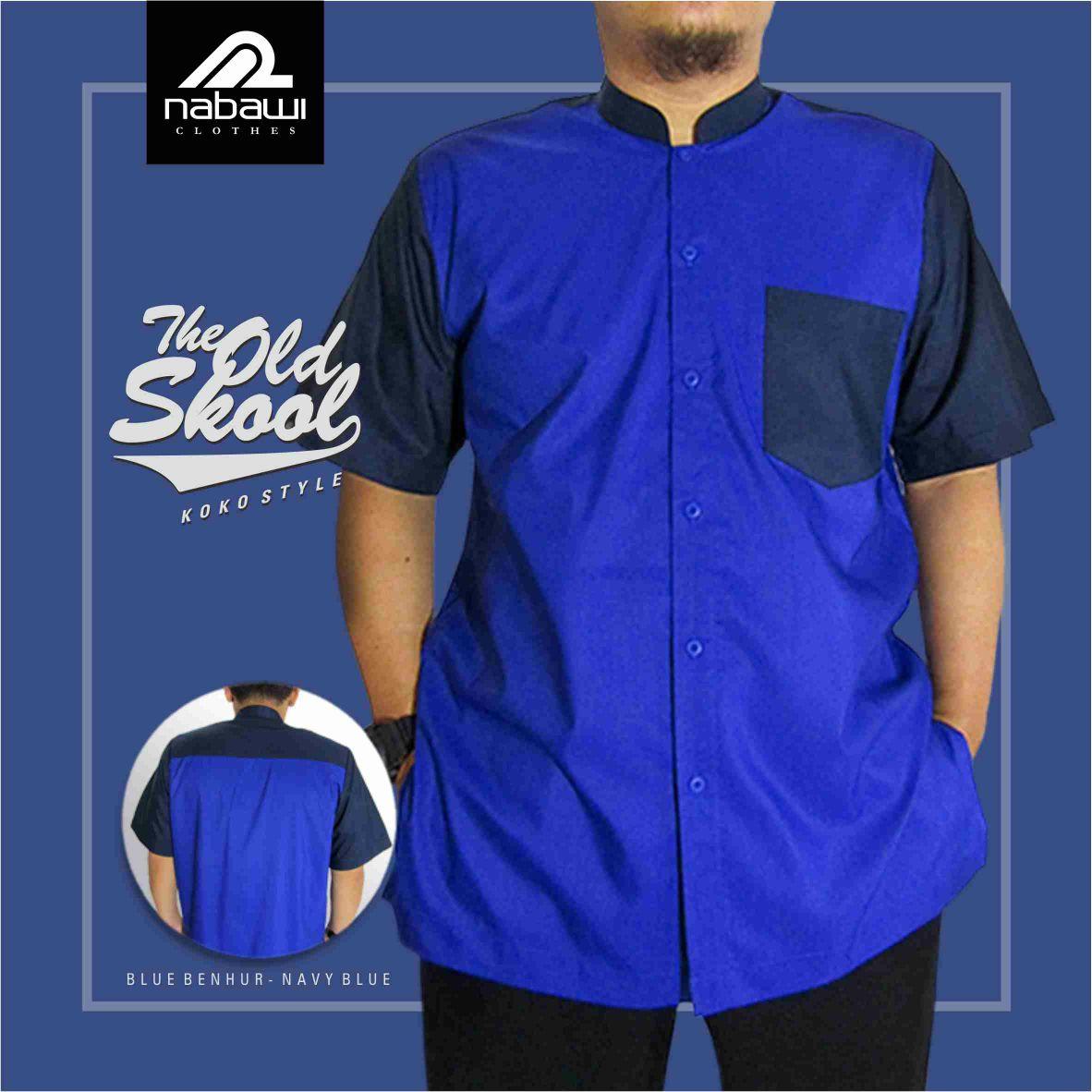 Nabawi Clothes - baju koko old skool biru benhur