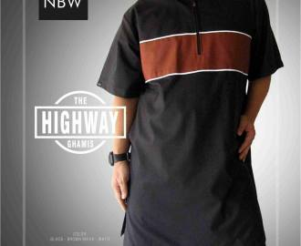 Koko Kurta Pakistan THE HIGHWAY Warna Hitam Biru dan Coklat elegan