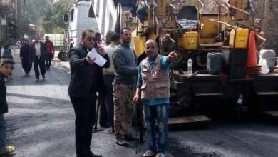 Photo of البدء في أعمال الرصف لطريق ترعة القشيشة بشبين