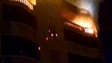 Photo of عاجل  اندلاع حريق في عمارة خالية من السكان بـ ميت نما وإصابة 3 حالات الآن..فيديو