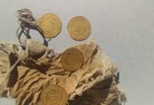Photo of الآثار: اكتشاف ٢٨ ديناراً من الذهب و٥ قطع صغيرة من دنانير من العصر العباسي بالفيوم