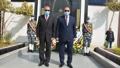 "Photo of الهجان"" يقدم التهنئة لمدير أمن القليوبية بمناسبة عيد الشرطة الـ69 ويضع إكليلا من الزهور على قبر الجندي المجهول"