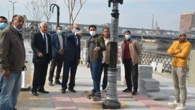 Photo of محافظ القليوبية يقوم بجولة لمتابعة أعمال رصف طريق كورنيش وممشى النيل ببنها
