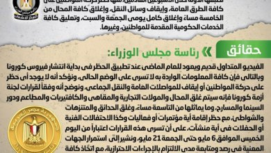Photo of الحكومة تنفي فرض حظر على حركة المواطنين خلال الاسبوعين القادمين