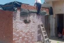 Photo of إزالة تعدى على سطح عمارة سكنية بالعبور ومقر مؤقت للسجل المدنى بحى الشباب