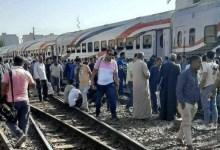 Photo of عودة حركة القطارات لطبيعتها بعد خروج عربة عن القضبان بمحطة بنها