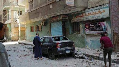 Photo of سقوط بلكونة من عمارة ببنها