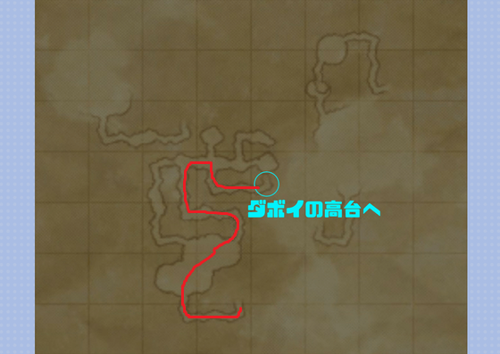修道窟→ダボイ高台