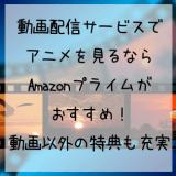Amazonプライムがおすすめ