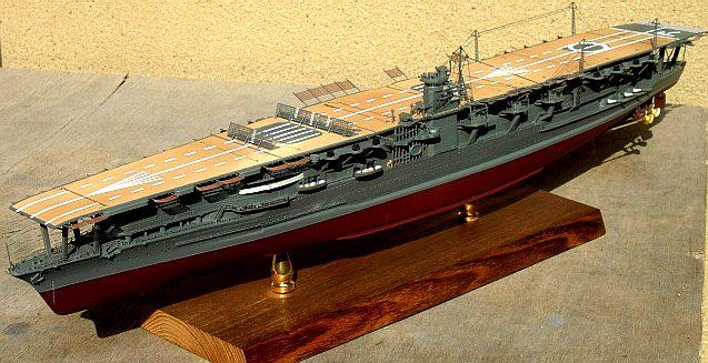 航空母艦 日模 日本模型 赤城1/500 AKAGI 1941年 真珠灣作戦時