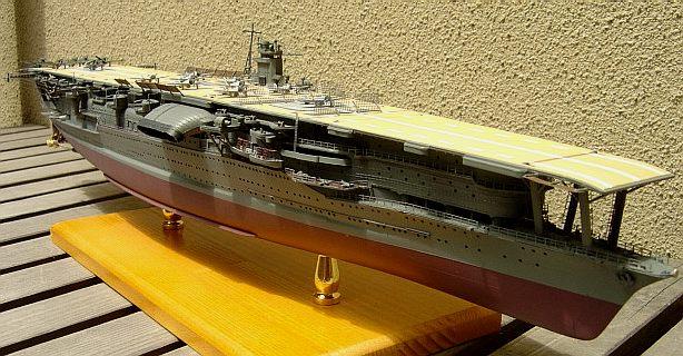 航空母艦 日模 日本模型 赤城1/500 AKAGI 7回目 1941年 真珠灣作戦時