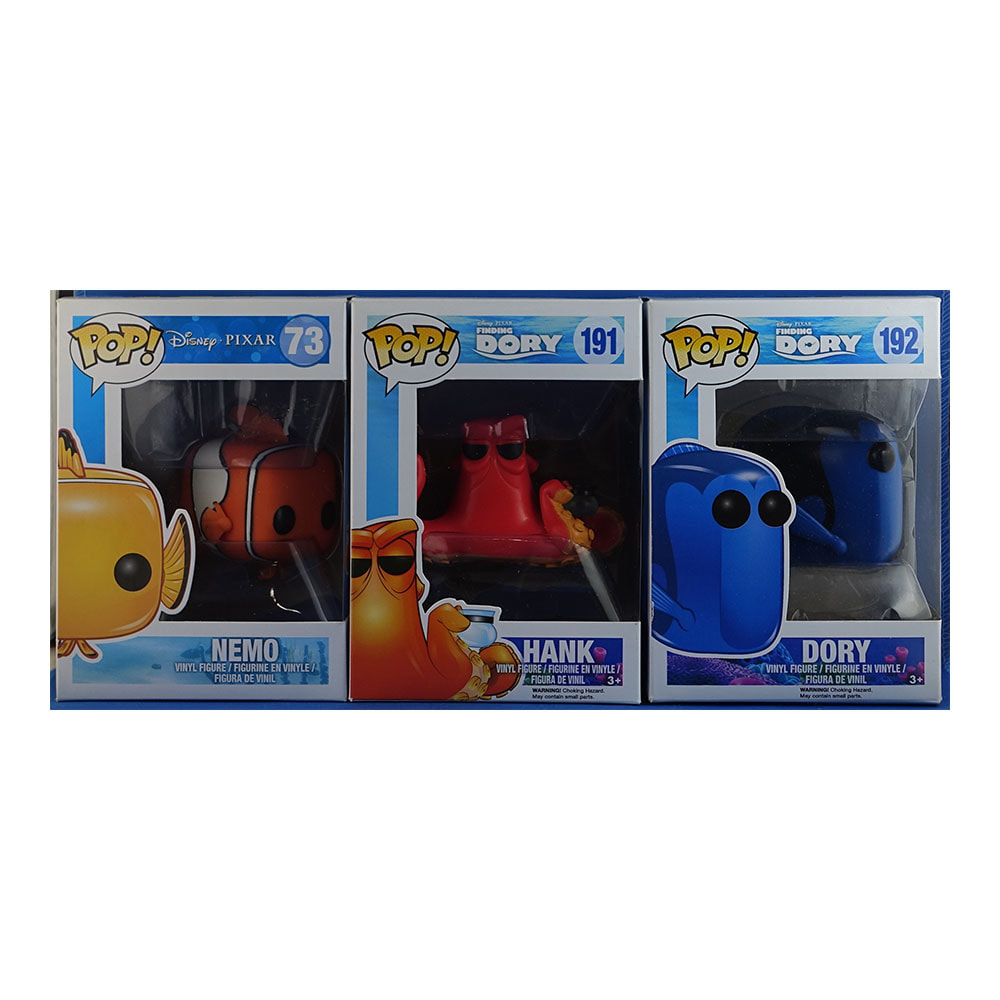 Nemo Bathroom Set Finding Nemo Dory Nemo Hank Set Of 3 Funko Pop Sets