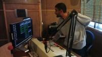 Tajammul Hussain in on-air studio